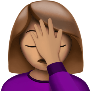 Image result for facepalm emoji