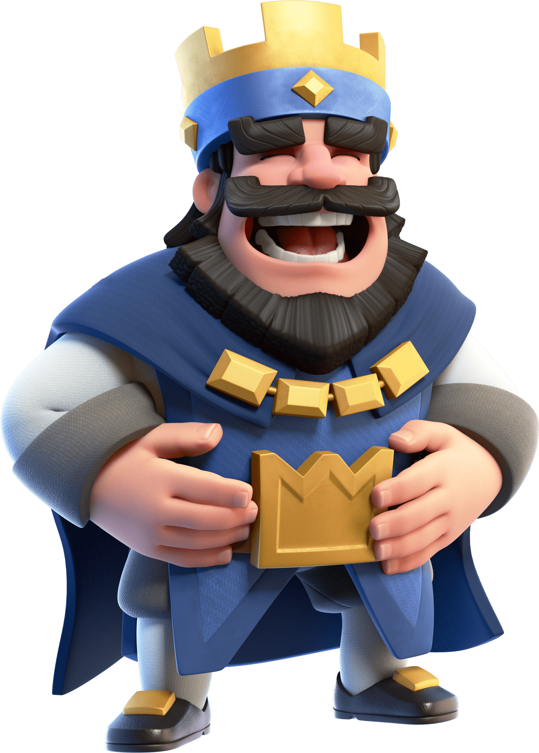 Clash royale laughing king transparent png stickpng for Miroir noir download