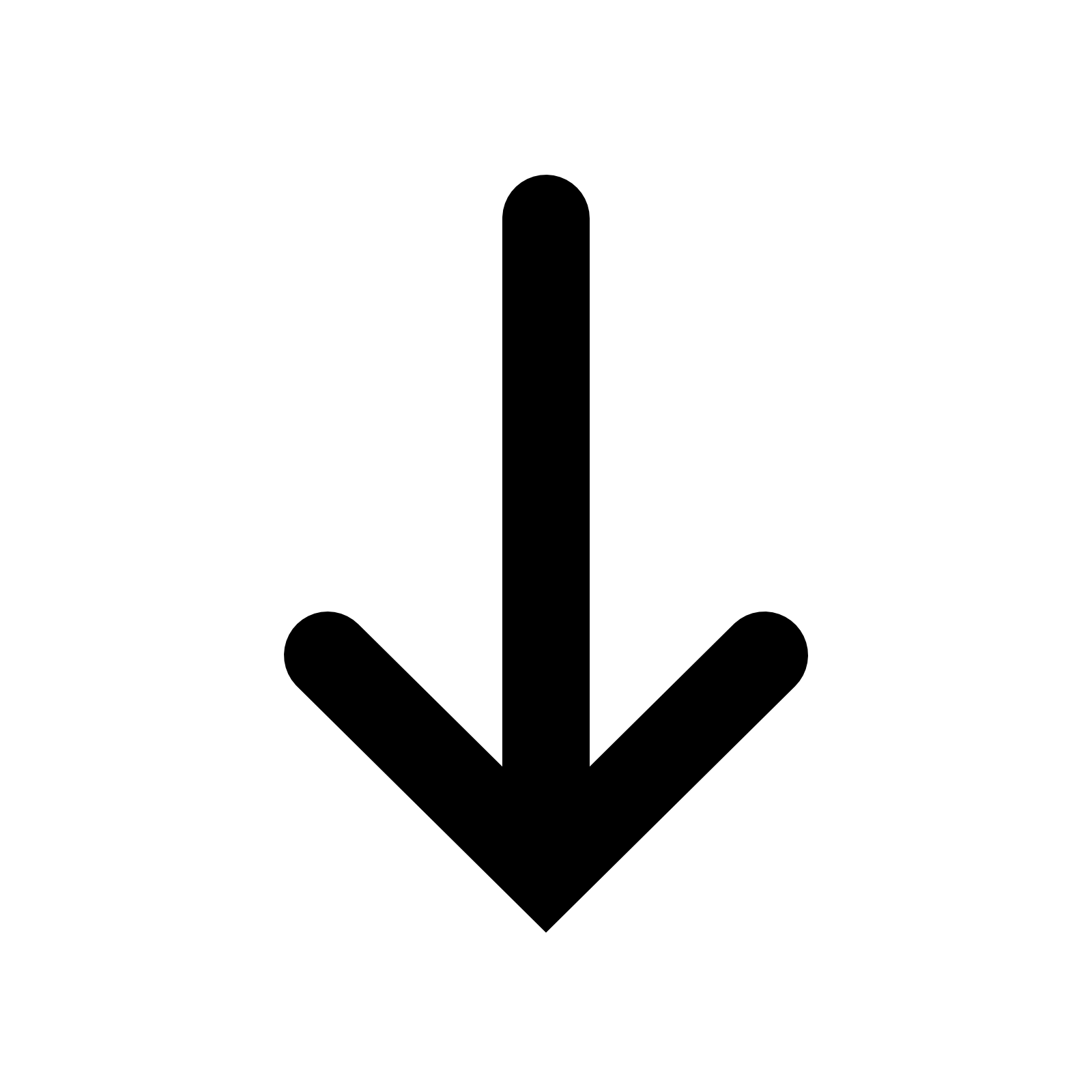 Down Arrow transparent PNG - StickPNG