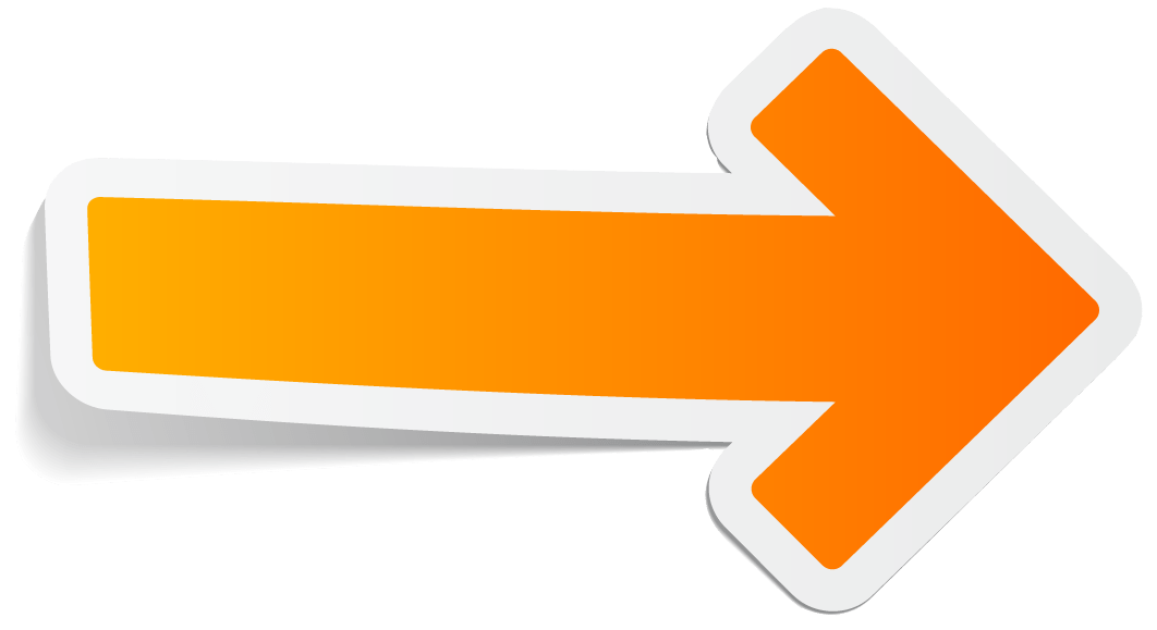 Sticker Orange Arrow transparent PNG - StickPNG