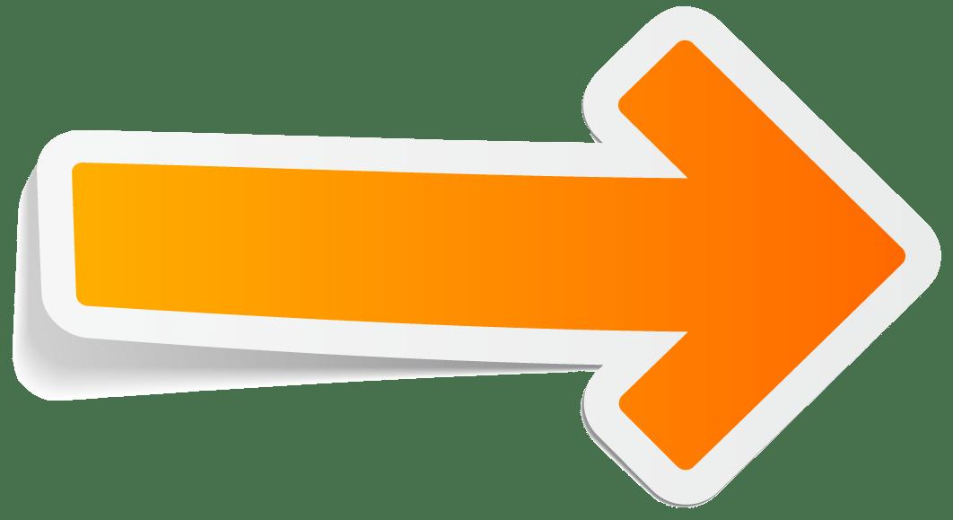 Flecha Naranja Pegatina PNG transparente - StickPNG