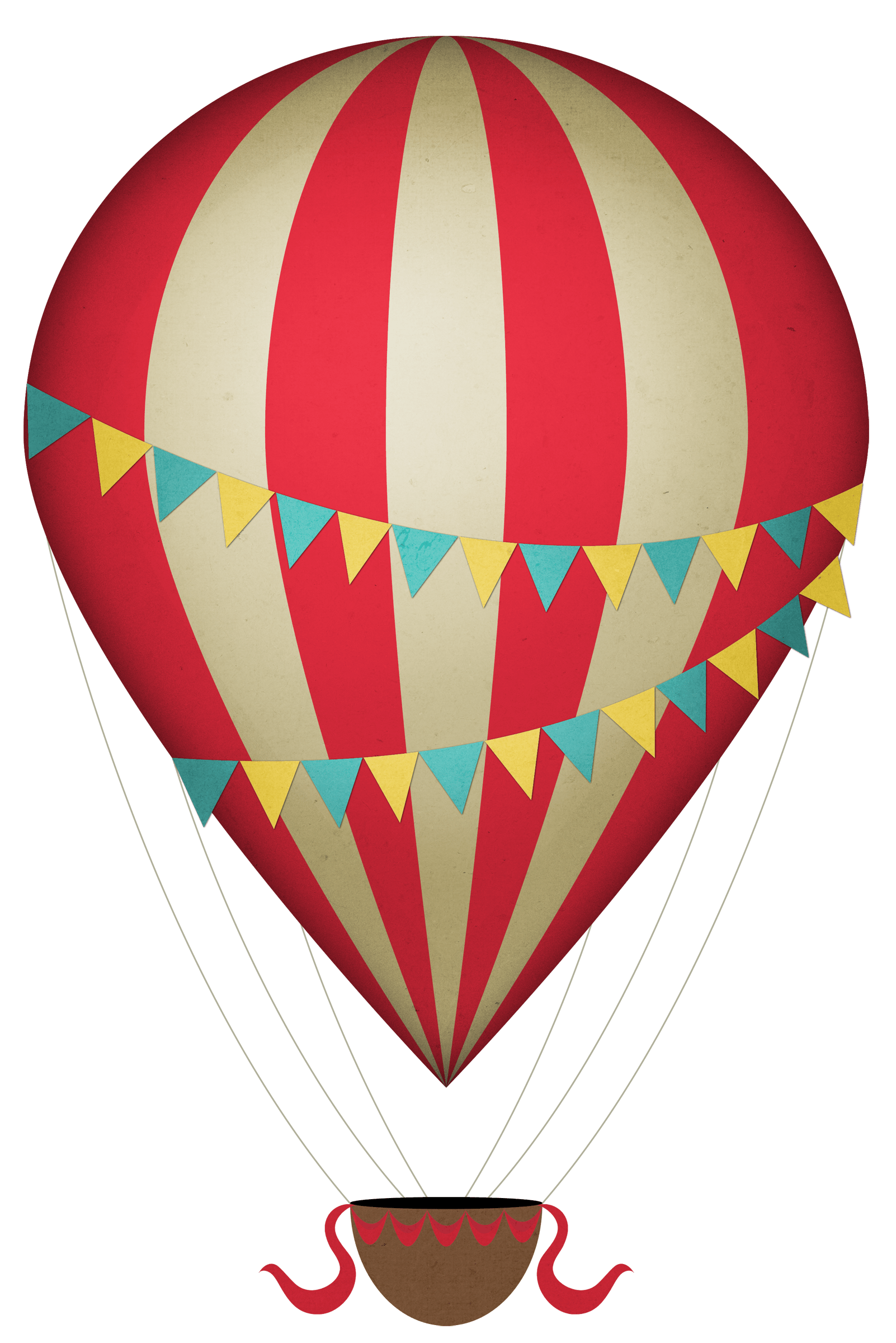 Vintage Clipart Hot Air Balloon Transparent Png Stickpng