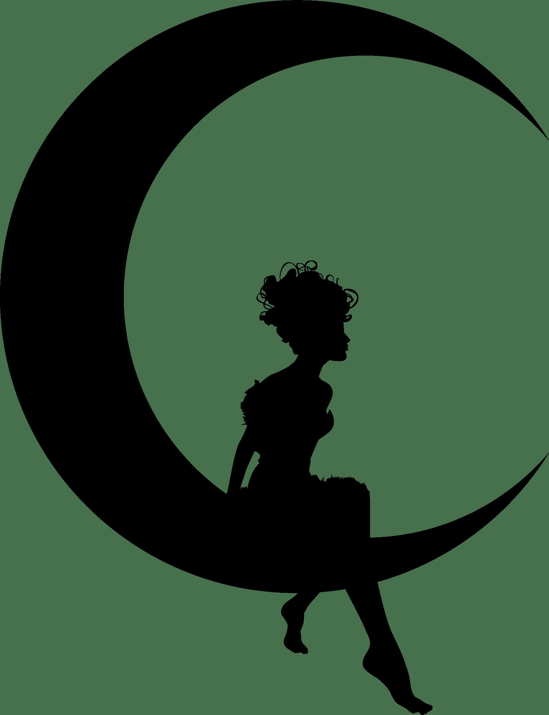 fairy sitting on moon crescent transparent png stickpng Long Hair Clip Art Photoshop Shoes Clip Art