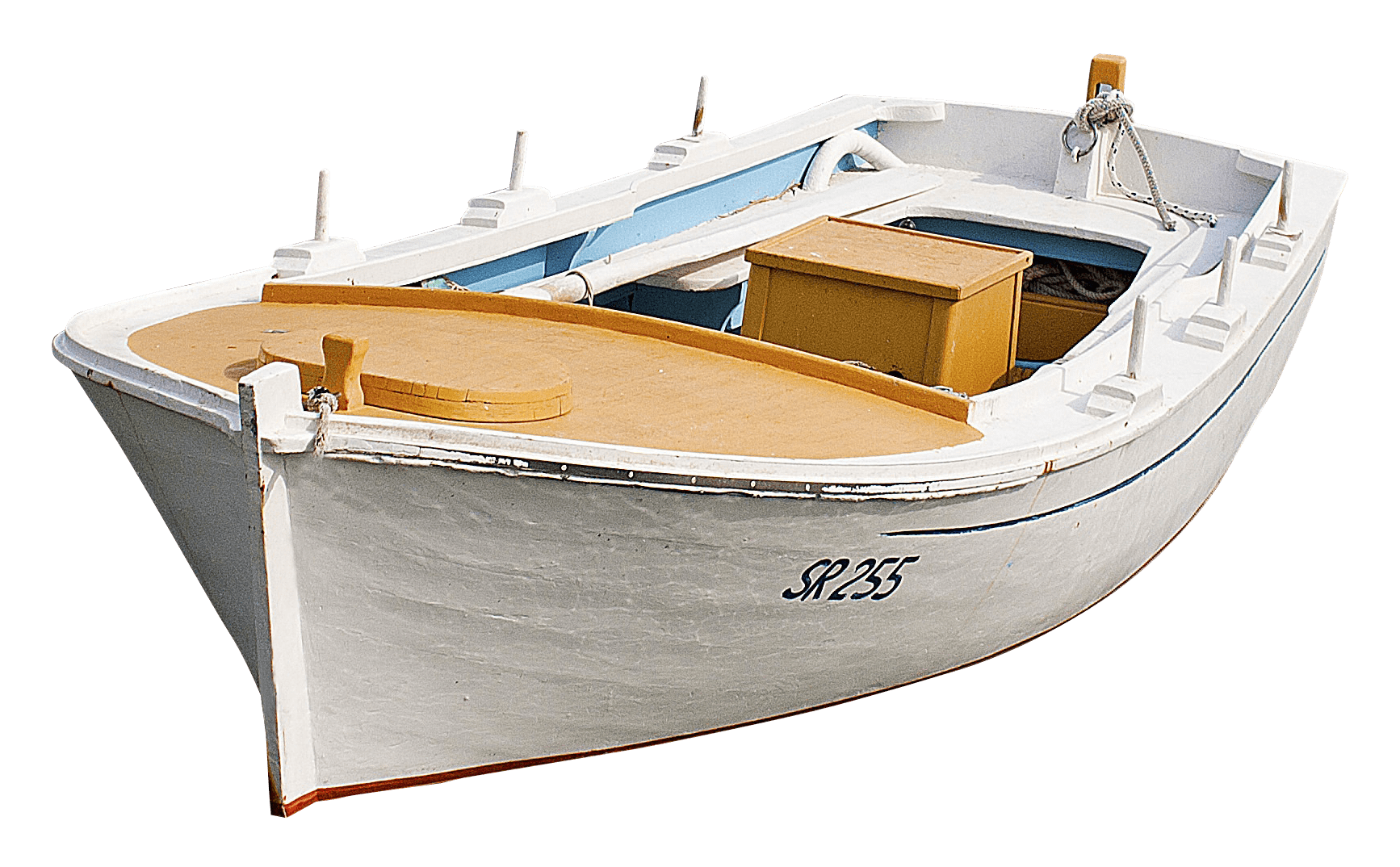 White Wooden Boat Transparent PNG