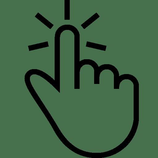 Click Hand Tap transparent PNG - StickPNG
