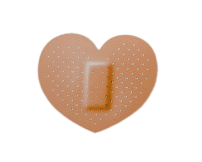 Heart Shaped Band Aid Transparent Png Stickpng