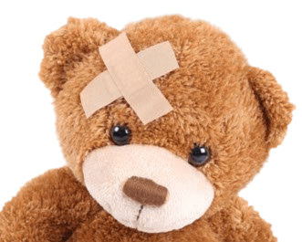 teddy bear with band aid on head transparent png stickpng