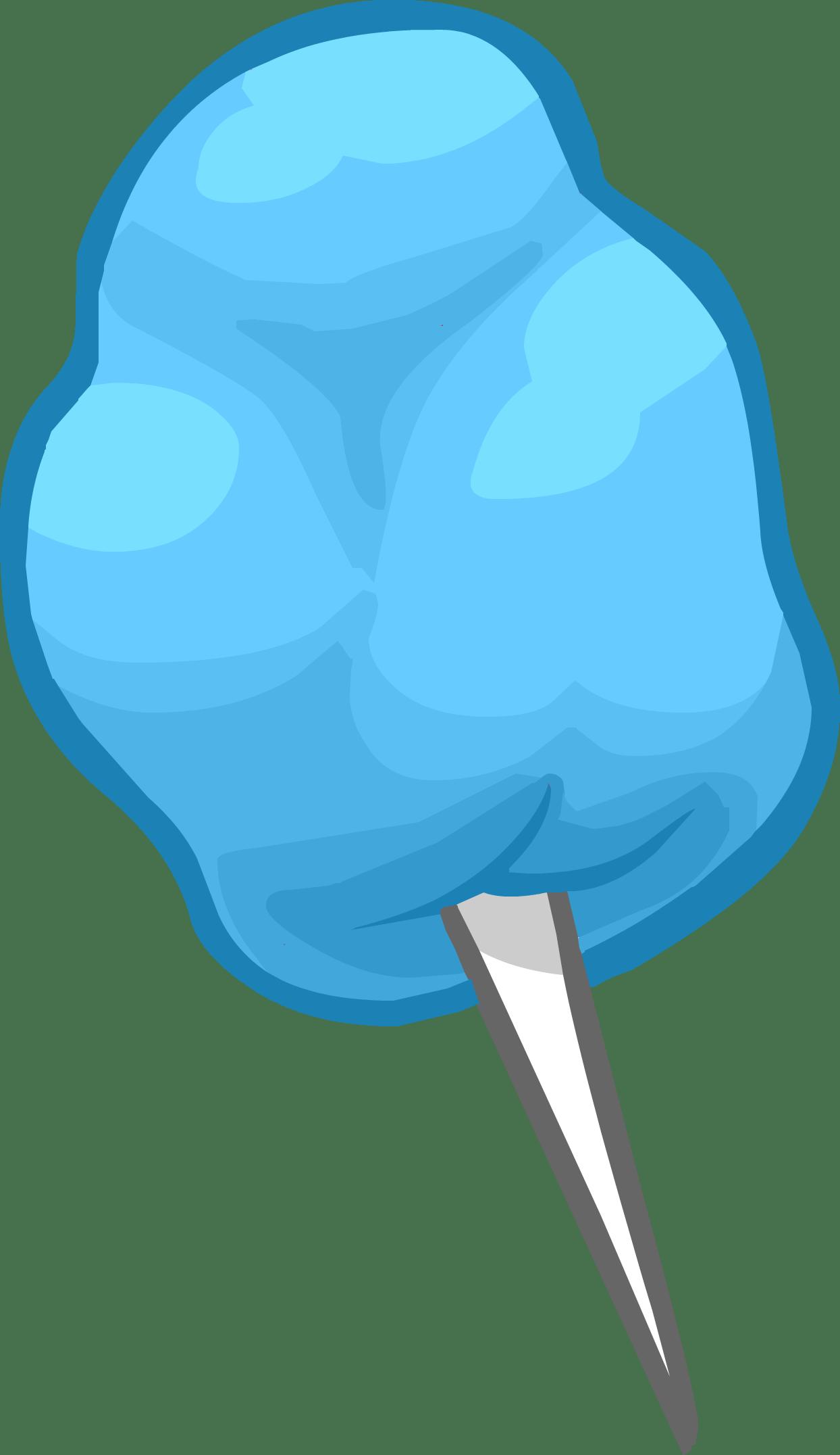 Candy transparent background. Blue cotton clipart png
