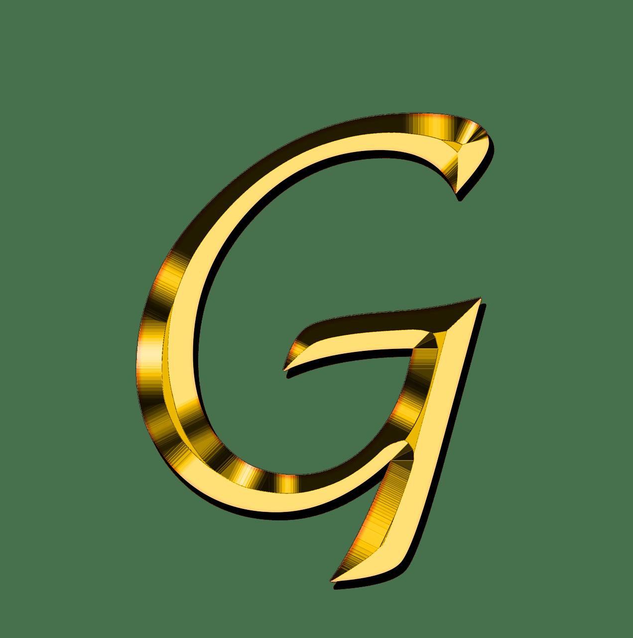Capital Letter G transparent PNG   StickPNG