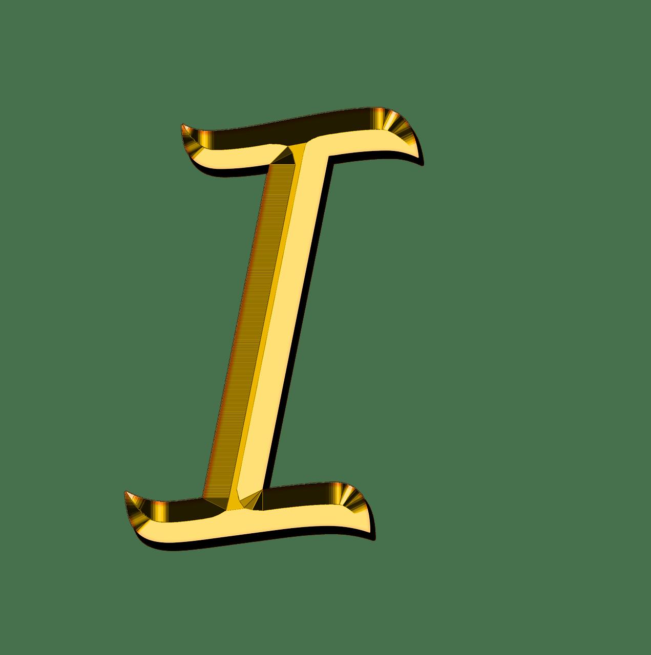 Capital Letter I transparent PNG   StickPNG