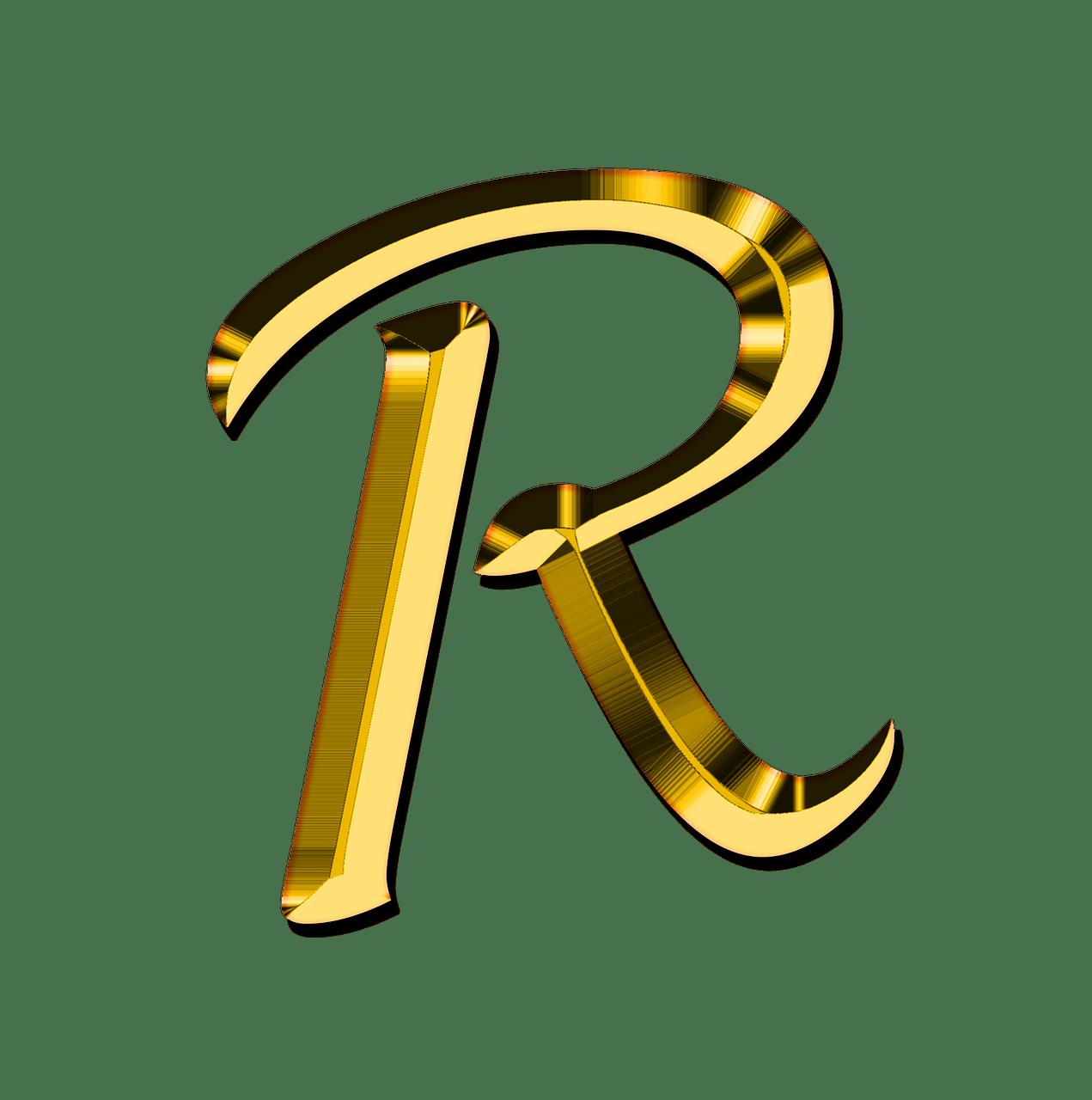 Capital Letter R transparent PNG   StickPNG