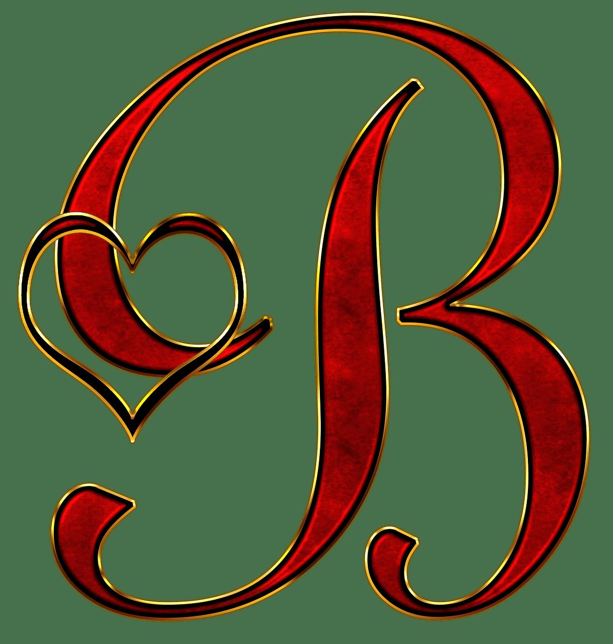 Valentine Capital Letter B transparent PNG   StickPNG