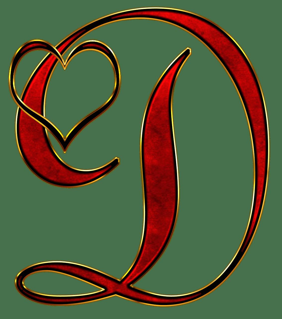 Valentine Capital Letter D transparent PNG  StickPNG