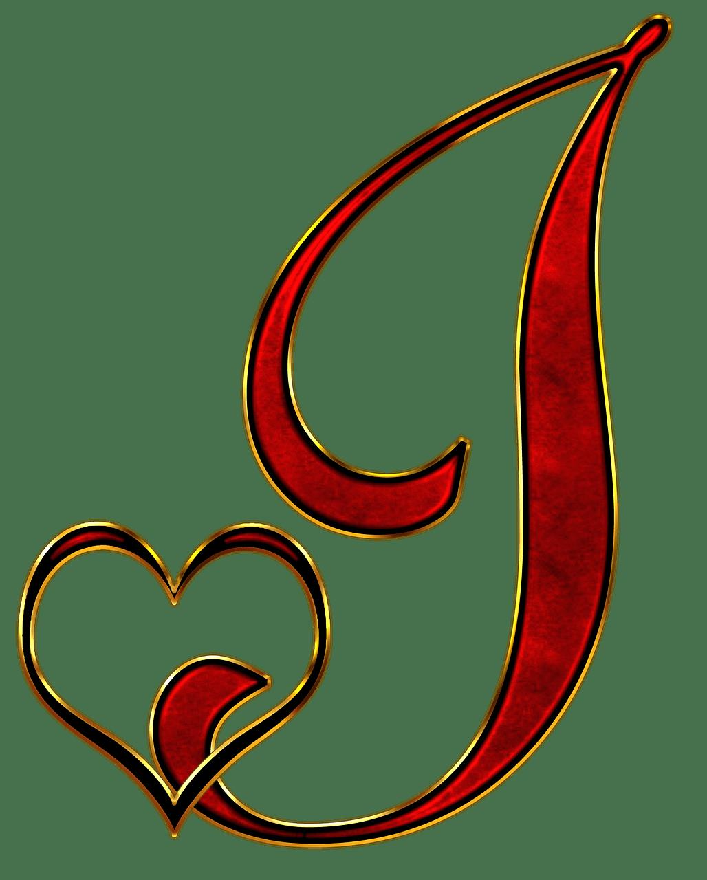 Valentine Capital Letter J transparent PNG   StickPNG