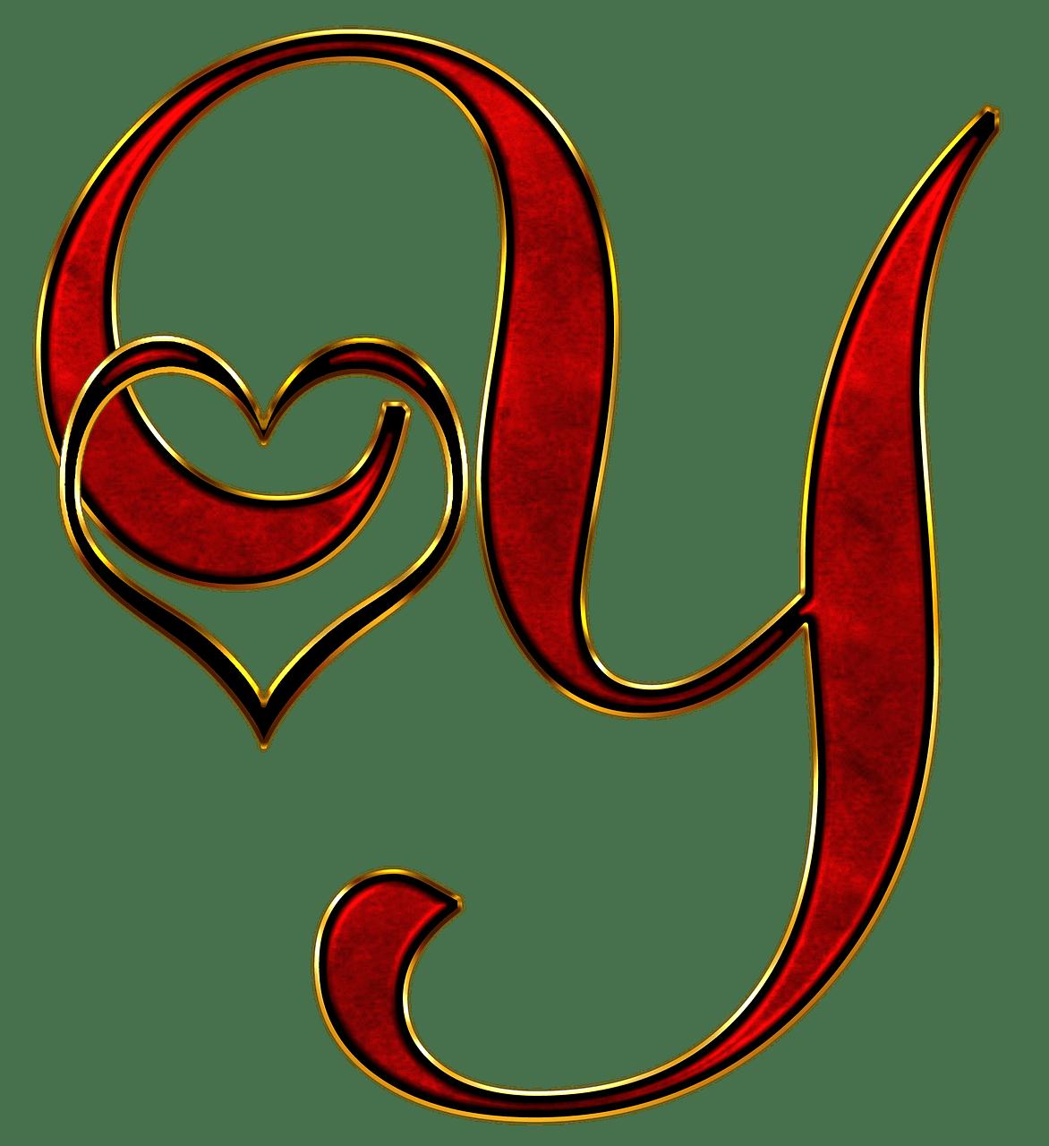 Valentine Capital Letter Y transparent PNG  StickPNG