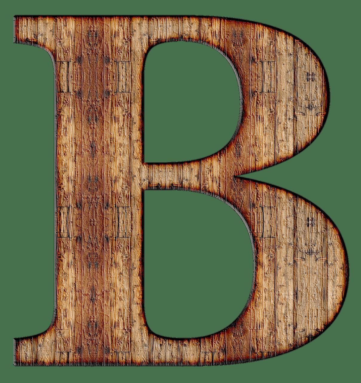 Wooden Capital Letter B transparent PNG   StickPNG