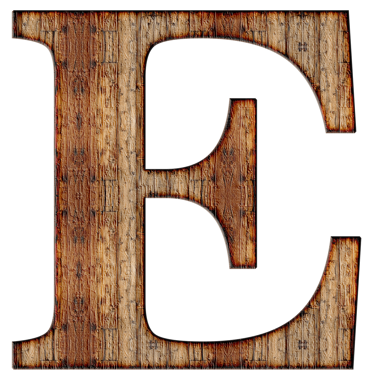 Wooden Capital Letter E transparent PNG   StickPNG