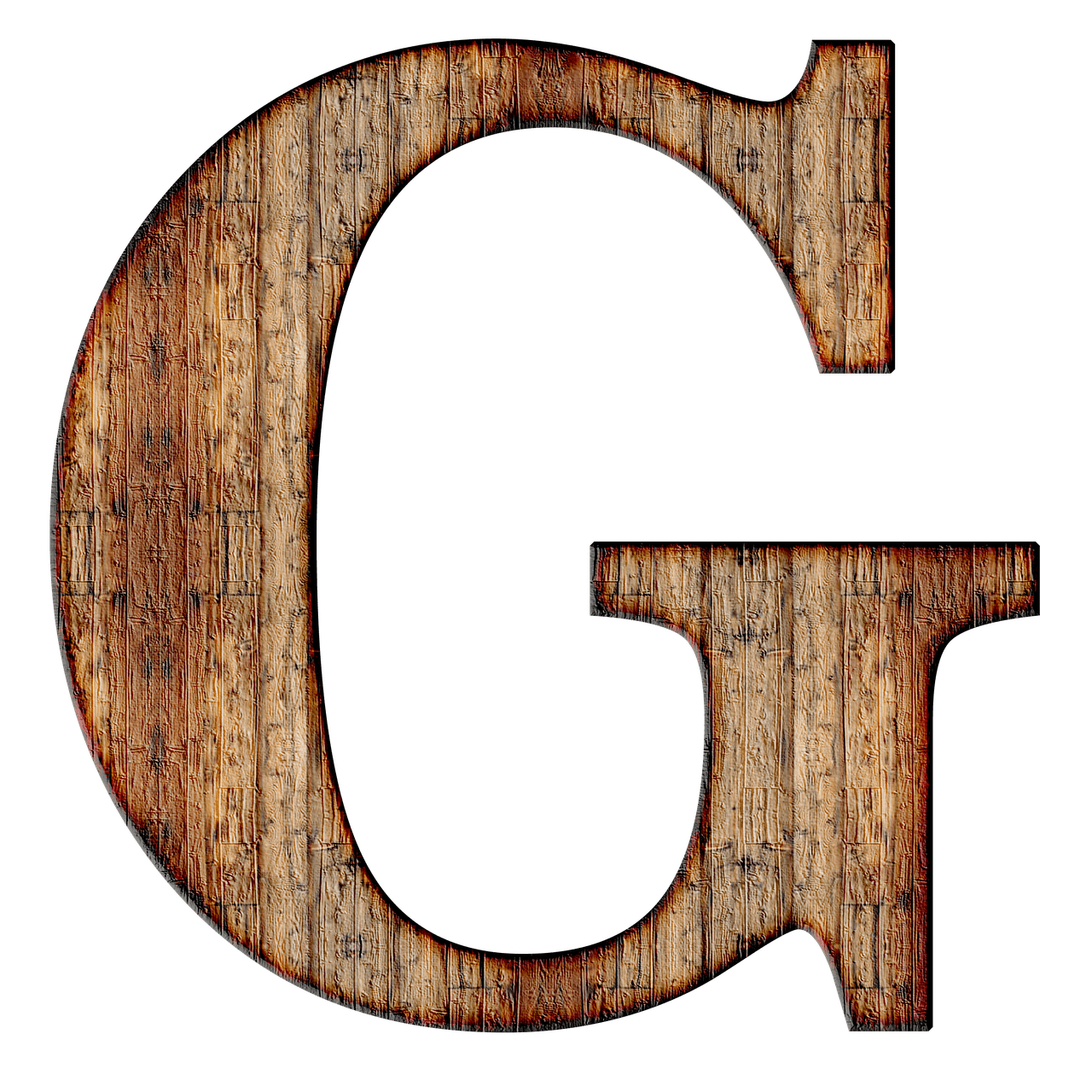 Wooden Capital Letter G transparent PNG   StickPNG