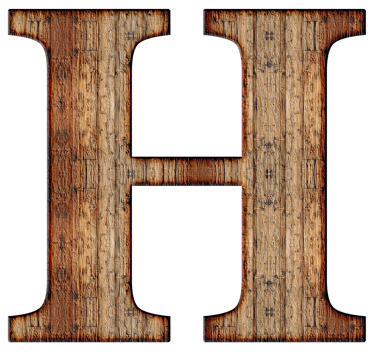 Wooden Capital Letter H transparent PNG - StickPNG 19ec9ae7445