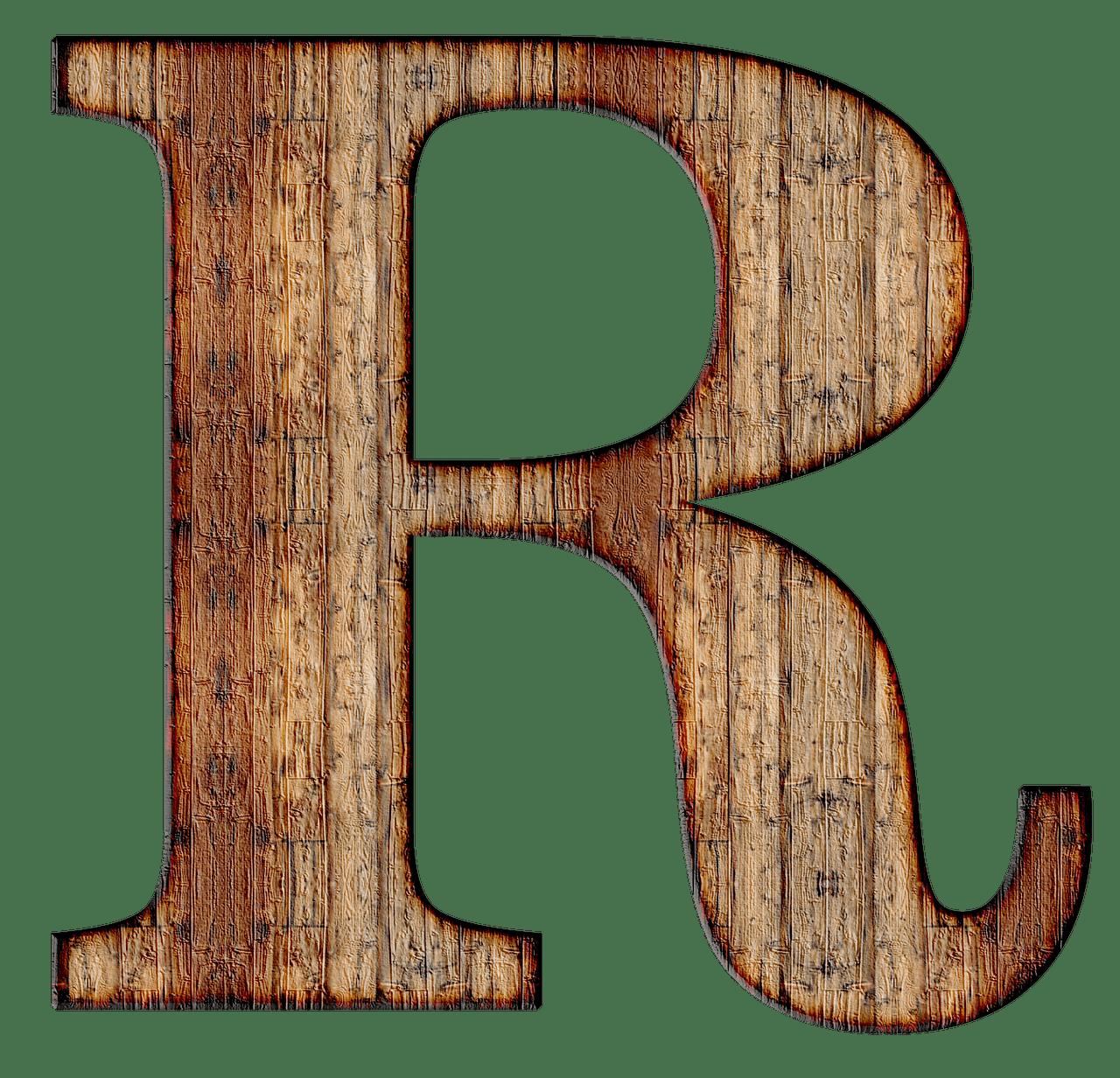 Wooden Capital Letter R transparent PNG   StickPNG
