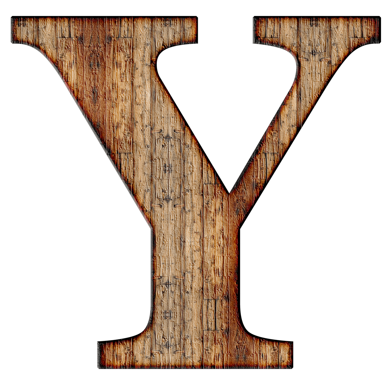 Wooden Capital Letter Y Transparent PNG