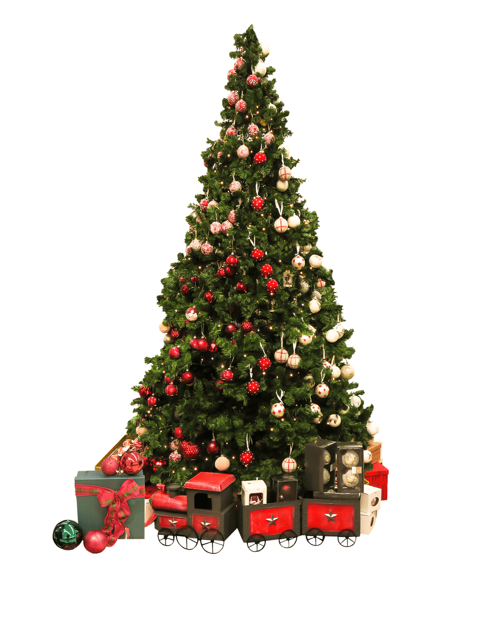 christmas tree and gifts - Christmas Tree Transparent