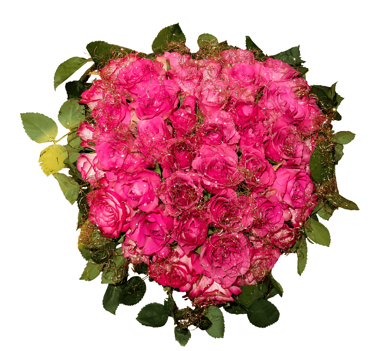 Pink Roses Heart Shaped Bouquet transparent PNG - StickPNG