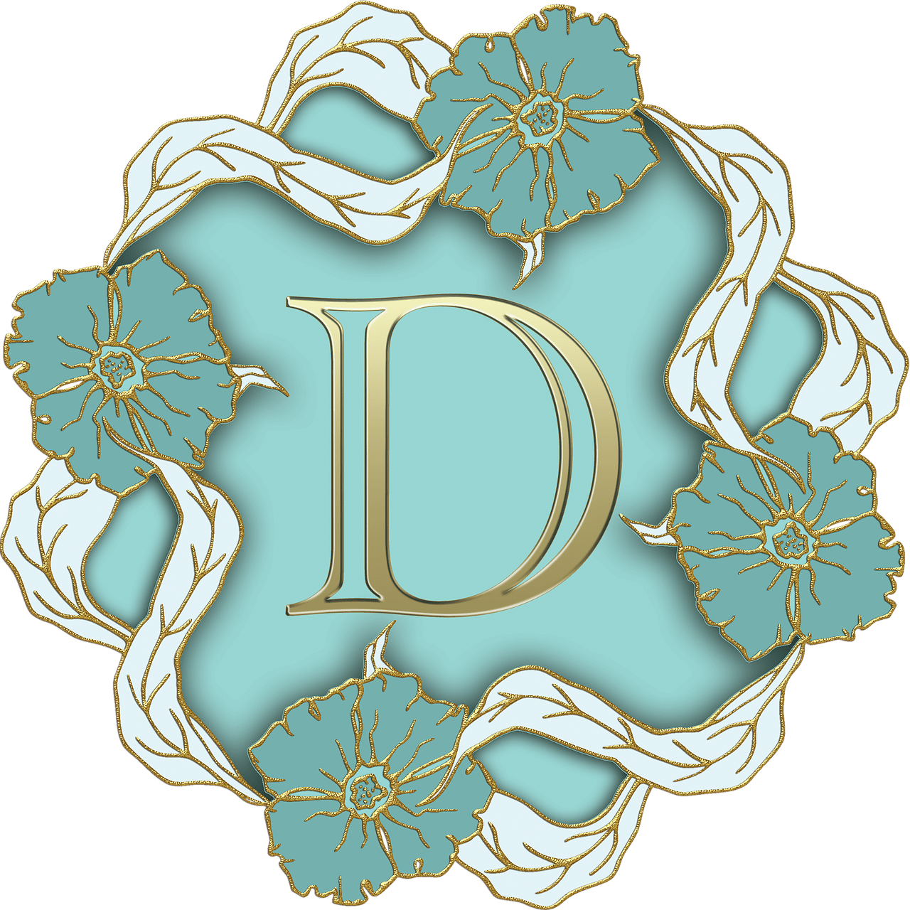 Flower theme capital letter d transparent png stickpng for W and p design