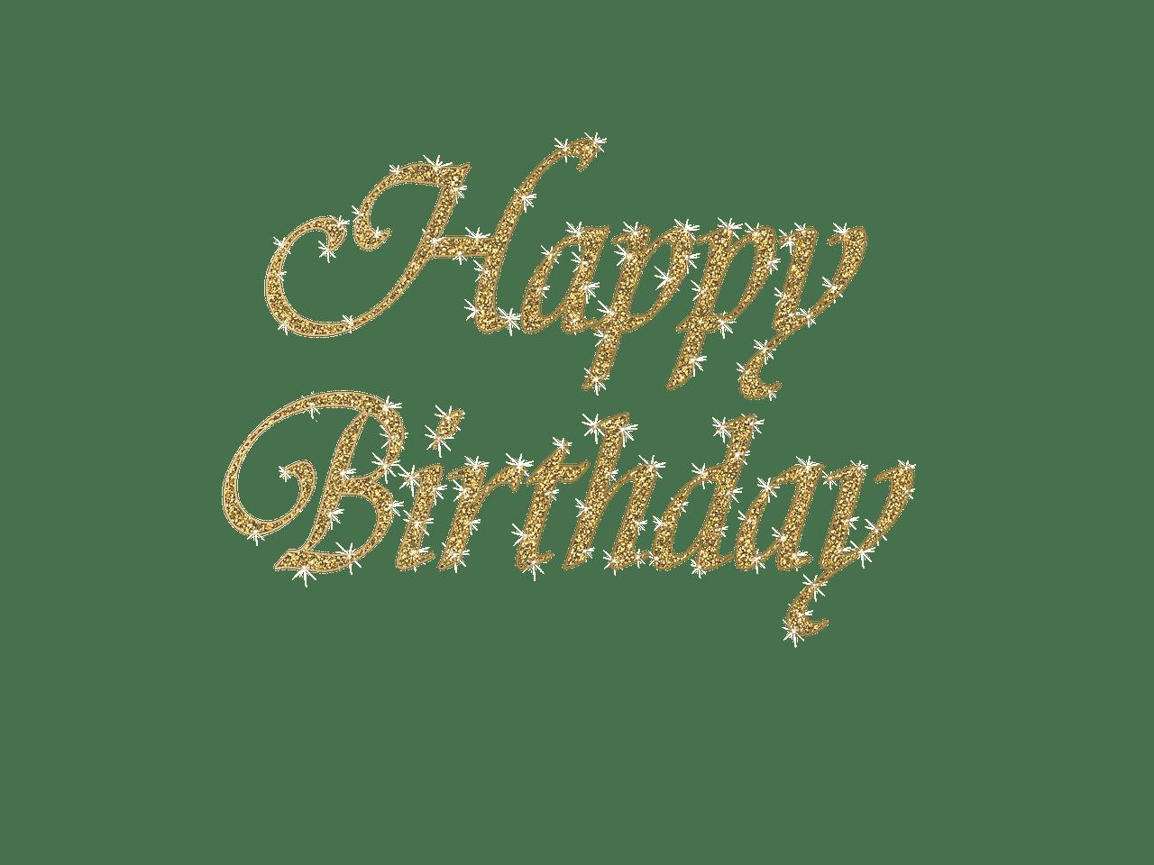 Happy Birthday Elegant Writing transparent PNG - StickPNG