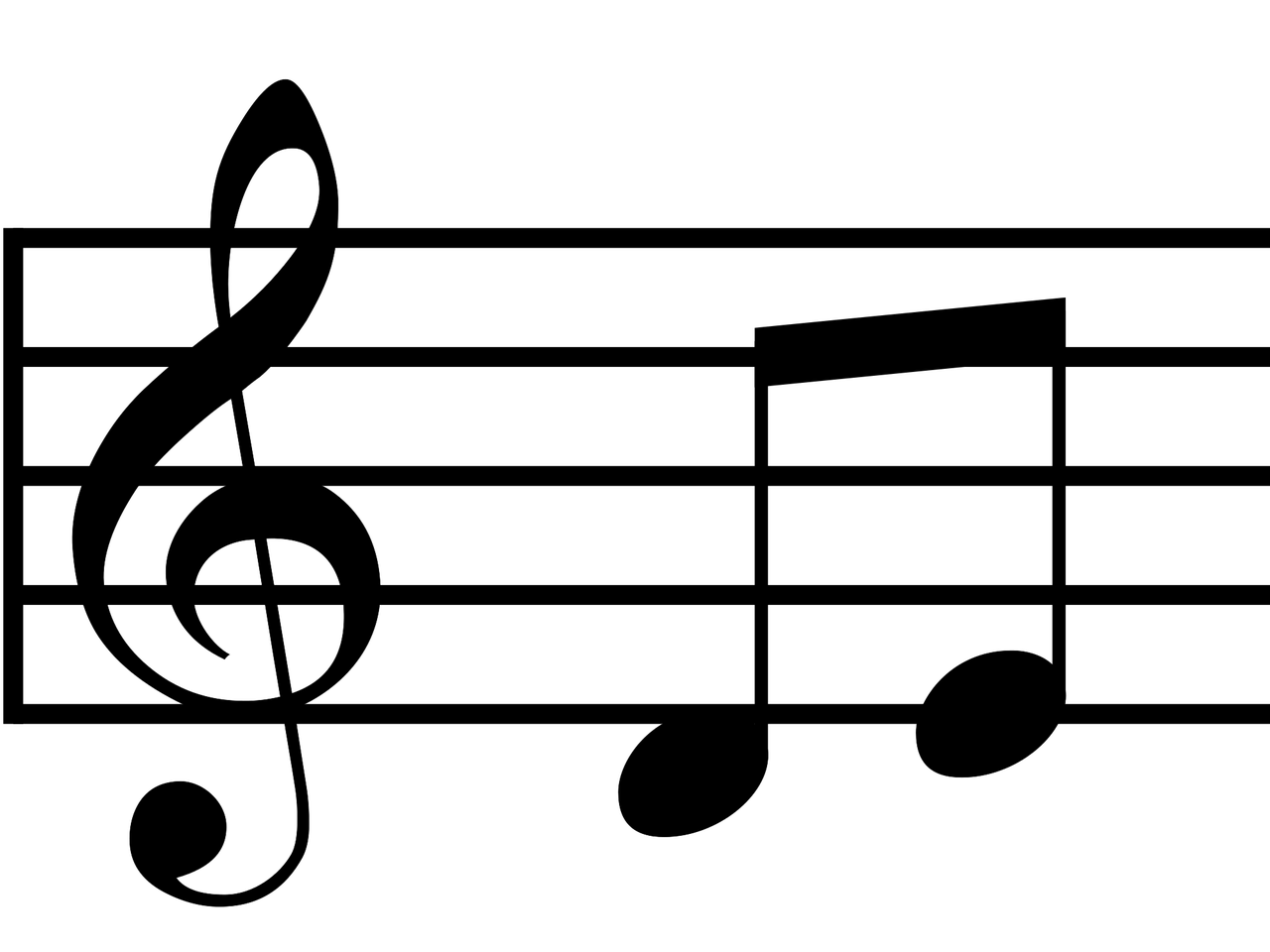 Images For Tumblr Transparent Music Notes: Musical Notes Treble Clef And 2 Half Notes Transparent PNG