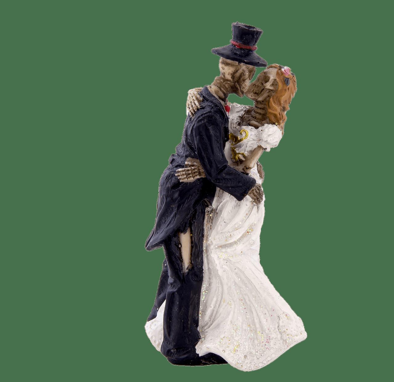 Skeleton Bride and Groom Kissing transparent PNG StickPNG