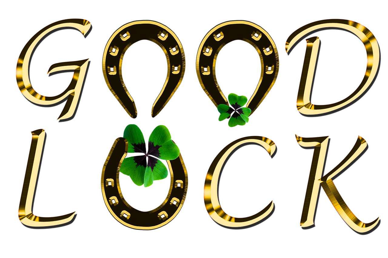 good luck symbols Some good luck symbols from around the world include ladybugs, four-leaf clovers, horseshoes and triangles other lucky symbols include the ankh symbol, eye of horace and scarabs.