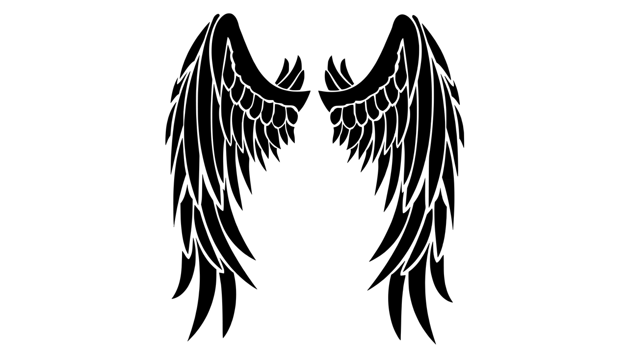 black wings clipart transparent png stickpng rh stickpng com clip art wings angel angel wings clipart
