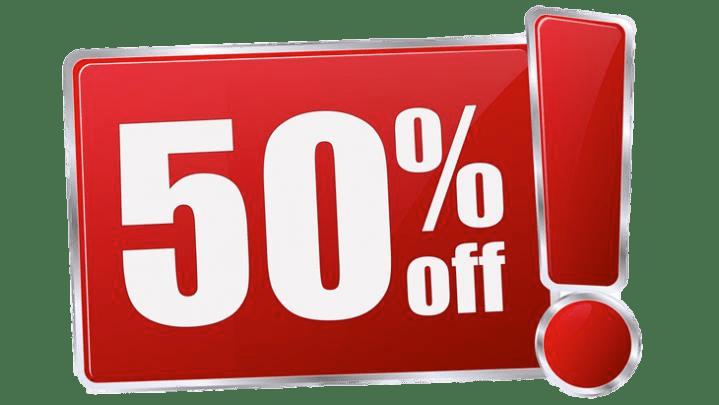 50% Rebaja PNG transparente - StickPNG