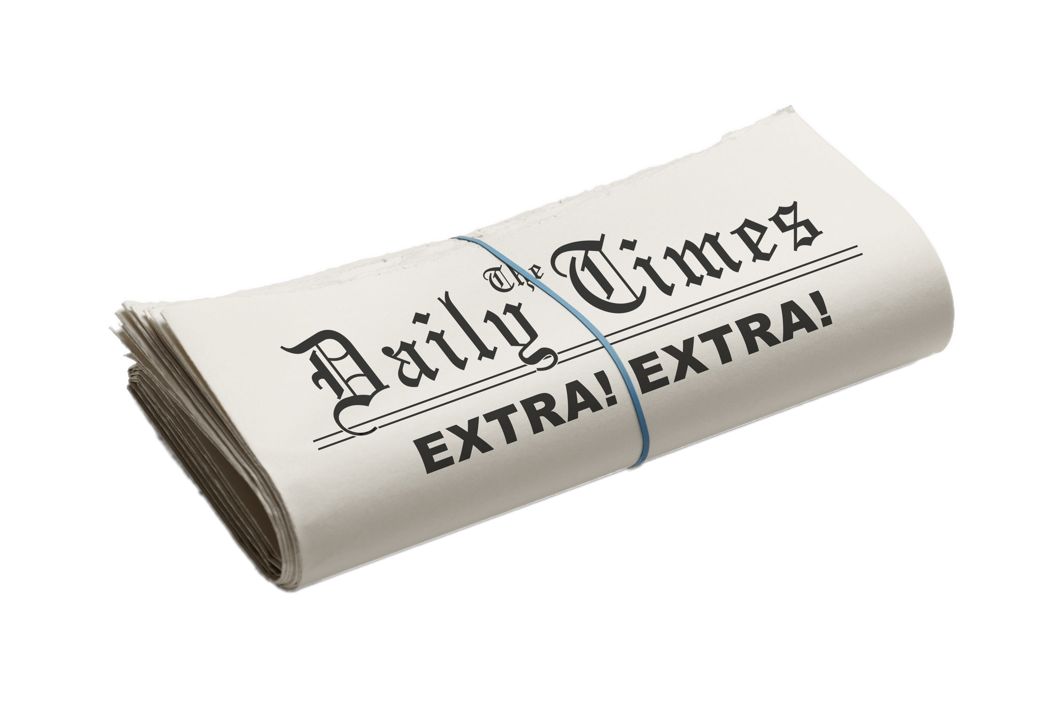 the daily times folded newspaper transparent png - stickpng