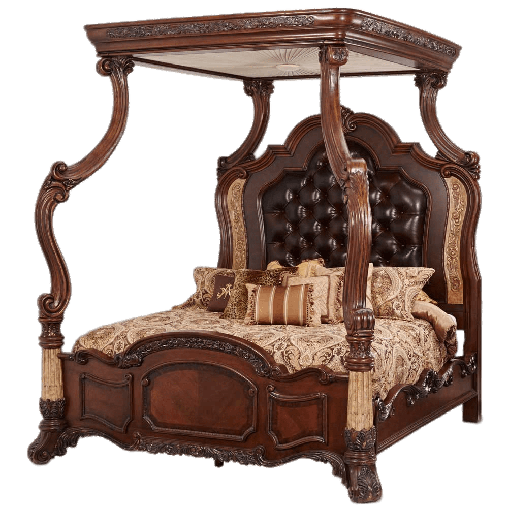 - Heavy Wooden Canopy Bed Transparent PNG - StickPNG