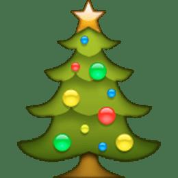 Christmas Tree Emoji Transparent Png Stickpng