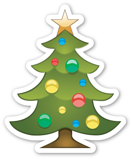 Christmas Emoji.Christmas Tree Emoji Sticker Transparent Png Stickpng