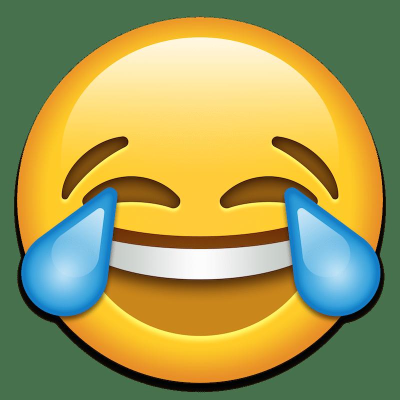 Resultado de imagen para emoji carita riendo con lagrimas png