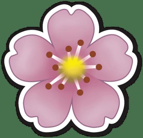 Purple Flower Emoji transparent PNG - StickPNG