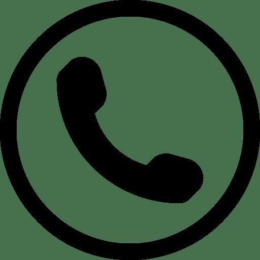 Icono Simple Teléfono en Círculo PNG transparente - StickPNG