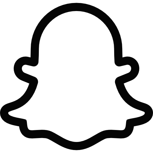 Snapchat Ghost Logo Black And White Transparent Png Stickpng