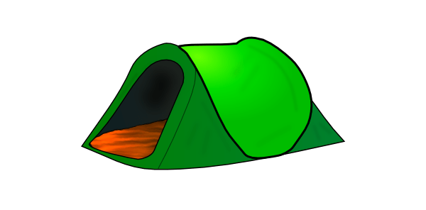 Camping transparent. Green tent clipart png