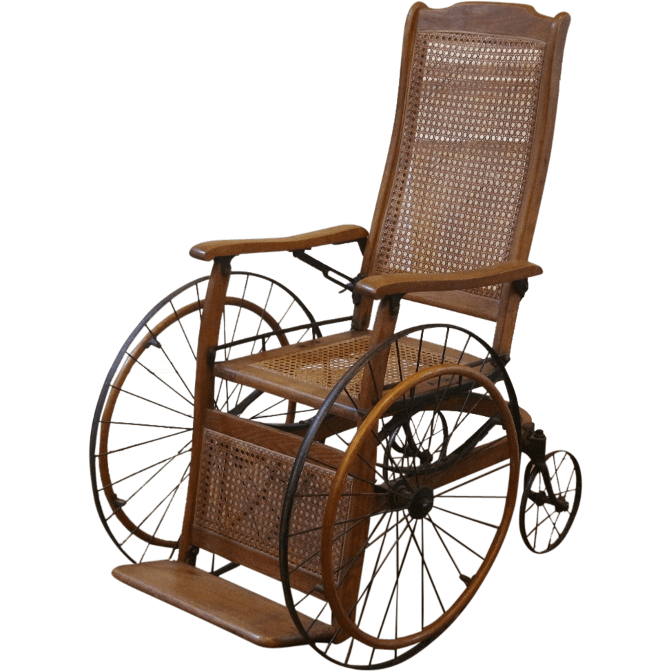Antique Wheelchair - Antique Wheelchair Transparent PNG - StickPNG