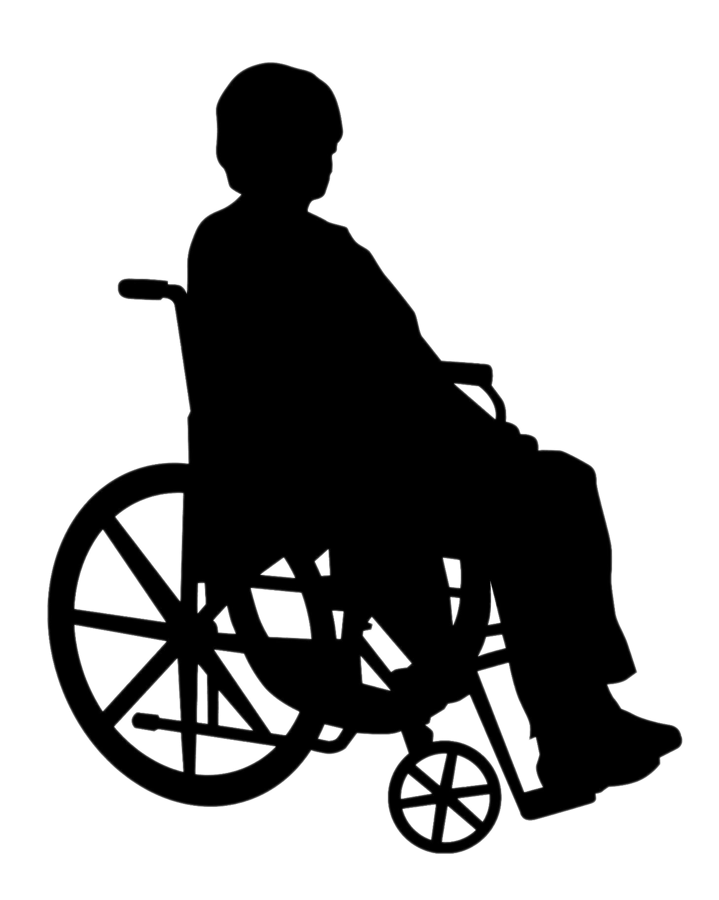 Lady In Wheelchair Silhouette Transparent Png Stickpng