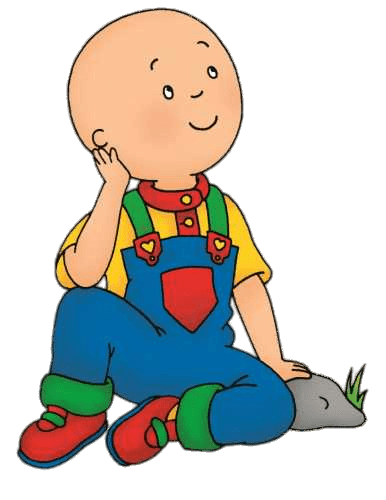 Caillou Daydreaming Transparent PNG