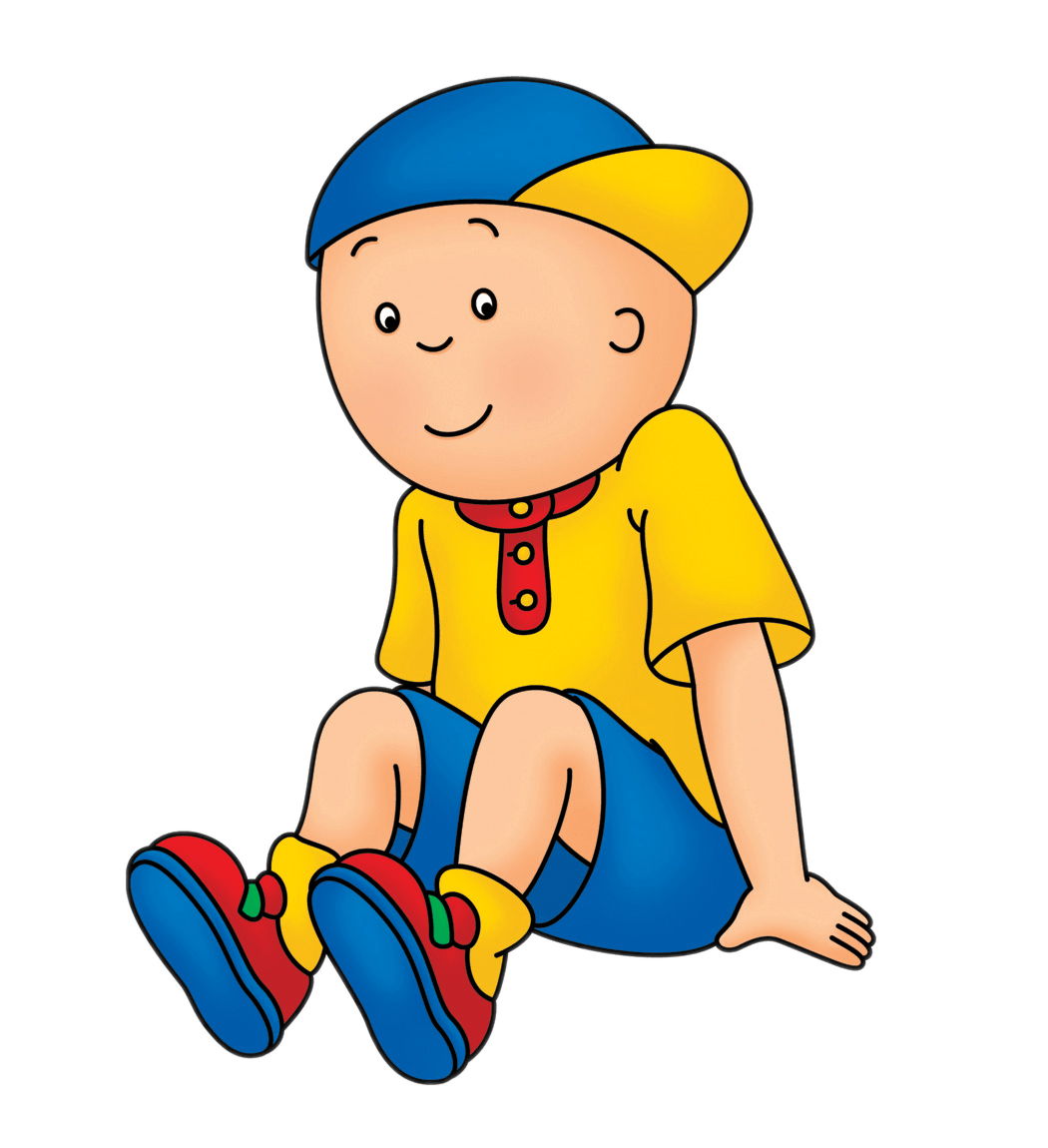caillou sitting transparent png stickpng rh stickpng com Caillou Rosie image clipart caillou