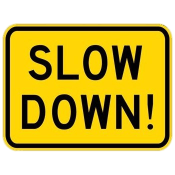 Image result for slow down clipart