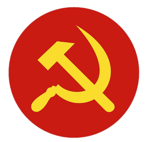 Yellow Hammer And Sickle In Red Circle Transparent Png Stickpng
