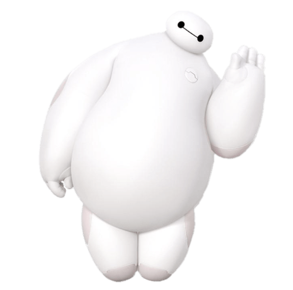 Big Hero 6 Baymax Waving Transparent Png Stickpng